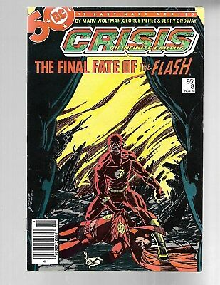 CRISIS ON INFINITE EARTHS #8 Flash Canadian Newstand Variant Price 95 cts NM 9.2