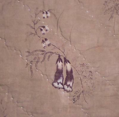 BEAUTIFUL 19th CENTURY FRENCH QUILTED COTTON c1840s, PROJECTS, REF