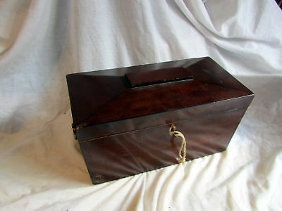 An Antique Sarcophagus Tea Caddy