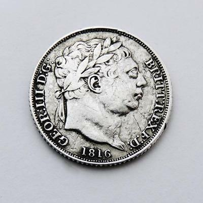King George Iii Silver Sixpence Coin 1816