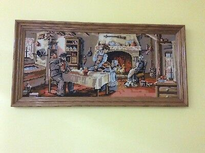 Kitchen Scene Finished Tapestry