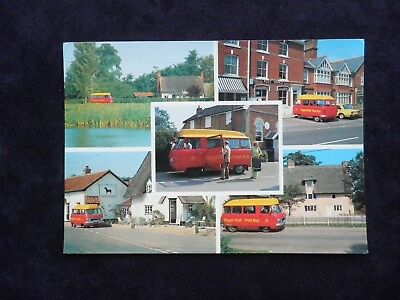 Postcard Of Royal Mail Post-Bus Diss-Gislingham, First Day Of Sale 1980 Norwich