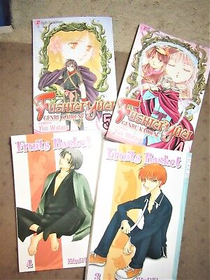 4 Graphic Novel-Manga: Fruits Basket Vol. 3-4 by Takaya ,book & fushigi yugi 4-5