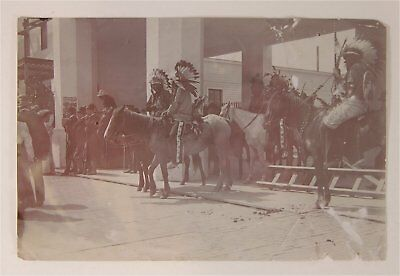 1904 Cummins Wild West Sioux Indian Performers At St Louis Worlds Fair Photo