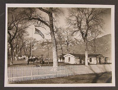 1910s WILLIAM F BUFFALO BILL CODY CABINET CARD PHOTO RELAXING AT HIS TE RANCH