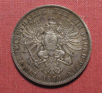1870A Prussia, German States Thaler - Great Looking Reverse! Please View