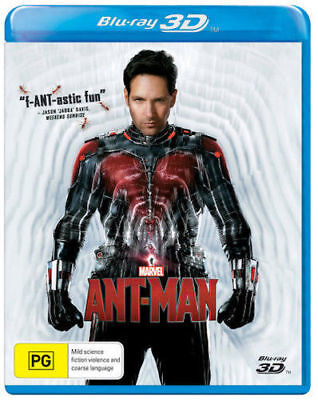 Ant-Man 3D Blu Ray Brand New Sealed
