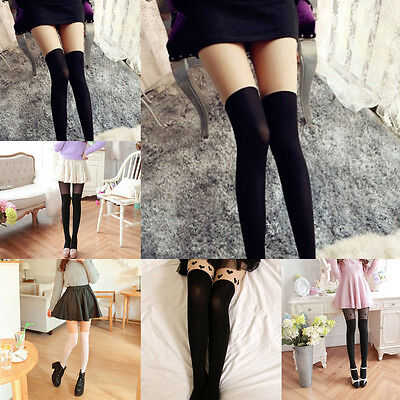 Fashion Women Lady Sexy Mock Fake Pantyhose Stockings Tights Knee High Hosiery