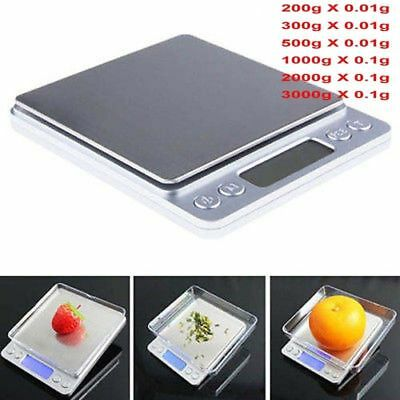 New 3000g X 0.01g Digital Precision Scale Jewelry Weight Electronic Balance Gram