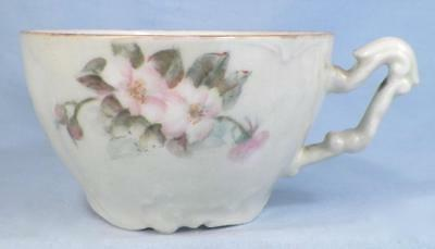 Antique Mustache Cup T&V Limoges Old Fashioned Pink Roses #4 Tressemann & Vogt