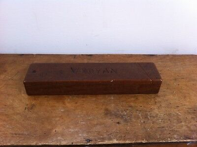 VINTAGE DECORATIVE WOODEN PENCIL BOX - VERYAN - 10 by 2.4  inches