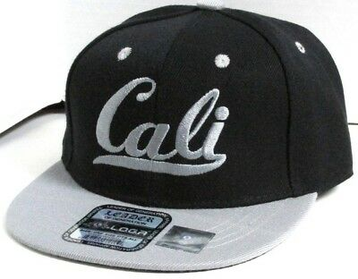 KID CALI EMBROIDERED Flat bill SNAP-BACK KIDS Hat BLACK/GRAY