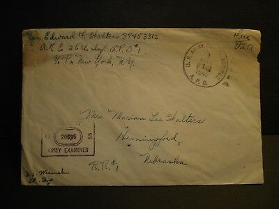 APO 1 BONN, GERMANY, ETO 1945 Censored WWII Army Cover 26th INFANTRY