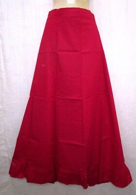 Red Pure Cotton Frill Petticoat Skirt Sari String Fit Buy Christmas Mart #97W99