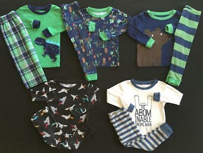 Boy 24 Months Fall Winter Carter's Pajama Sets Clothes Lot Free Shipping