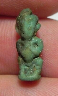 ZURQIEH -as6707- ANCIENT EGYPT, FAIENCE PATAIKOS AMULET. 600 - 300 B.C