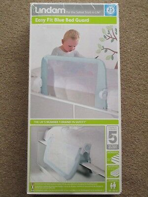LINDAM EASY FIT BED GUARD Safety Toddler Bed Rail BLUE brand new in SEALED BOX