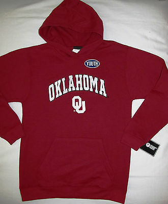 Oklahoma Sooners OU Youth Boys Girls Pullover Hoodie Sweatshirt Size Large 14 16