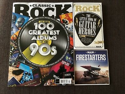 Classic Rock 247 April 2018 100 Greatest Albums Of The 90's Includes cd & book
