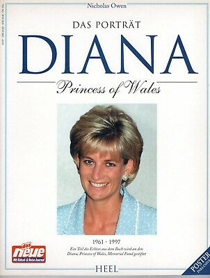 großes Buch_112 S (+POSTER)_Prinzessin_Lady_Diana_Porträt_Princess of Wales_book