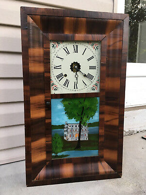 Antique OGEE Clock Retrofitted with Modern Brass Mechanical Movement Restored