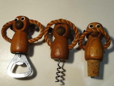 Vintage Hear No Evil Speak No Evil See No Evil Wood Monkey Bar Tools