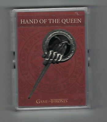 2017 Game of Thrones Valyrian Steel Pin and Coin Cards #H8 Hand of the Queen Pin