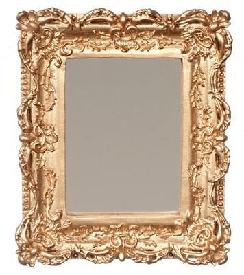 Miniature Dollhouse 1:12 Scale Gold Framed Mirror - A4332 - Gorgeous!