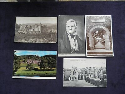 5 Postcards Of Abbotsford House, Scottish Borders, Home Of Sir Walter Scott