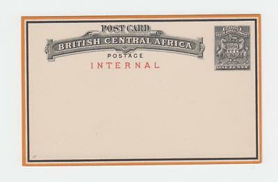 "BRITISH CENTRAL AFRICA 1d ""INTERNAL"" POST CARD UNUSED H&G#1 (SEE BELOW)"