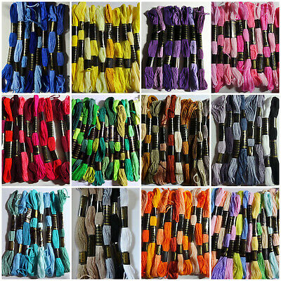6 Mixed Colour Skeins of Duchess Embroidery Thread - 100% COTTON