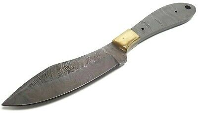 Full Tang Damascus Steel Knife Makers blade blank DIY