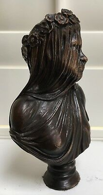 The Veiled Lady Hotcast Solid Bronze Statue Uk Foundry Limited Edition Signed