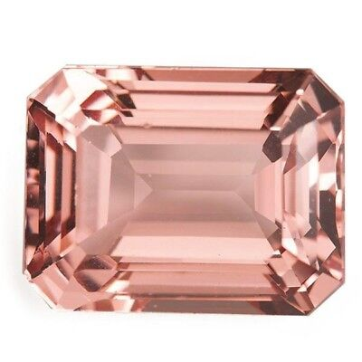Natural Emerald Cut Morganite Loose Gemstones Variation All Sizes Available