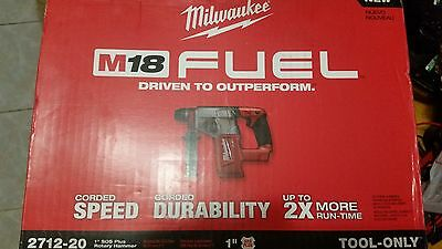 "NEW Milwaukee M18 FUEL 1"" SDS Plus Rotary Hammer (TOOL ONLY) 2712-20:"