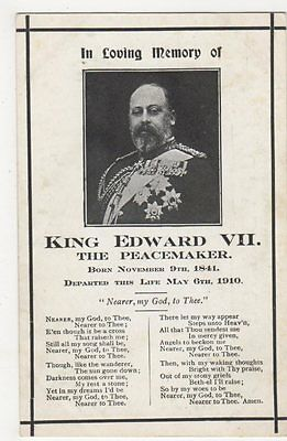 In Loving Memory of King Edward VII, The Peacemaker, Hutson Postcard, B385