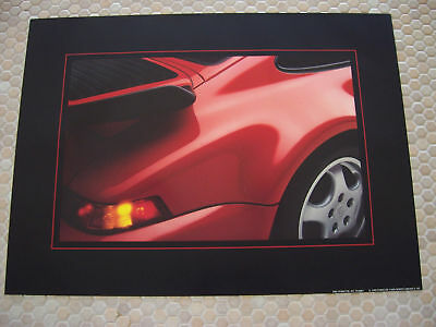Porsche Official 964 911 Turbo Official Showroom Poster 1991-92