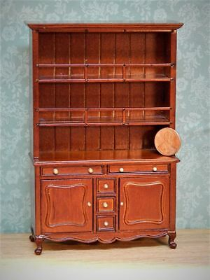 Vintage Bespaq Mahogany China Cabinet Cupboard Unique Dollhouse Miniature
