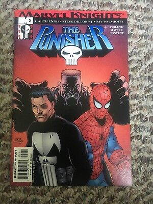 Marvel Knights The Punisher # 2 2001 Spider-Man appearance / cover NM