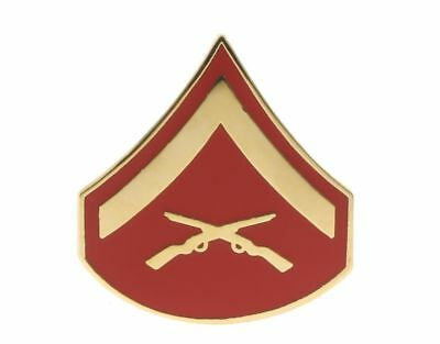 US Marine Corps Lance Corporal LCpl E-3 Rank Hat or Lapel Pin H14387D123
