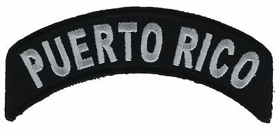 Puerto Rico Rocker 4 Inch Embroidered Hat Shoulder Patch F2D16A