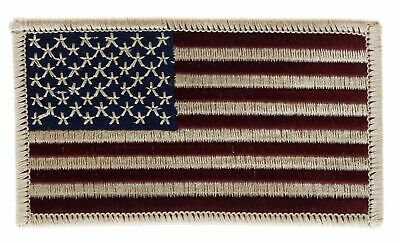 American USA Flag Old Style Bronze Border 3.5 inch Patch PPMDFlg F3D6B
