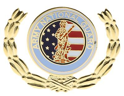 USA Army National Guard Wreath Enamel Inlay Hat or Lapel Pin H14591D17