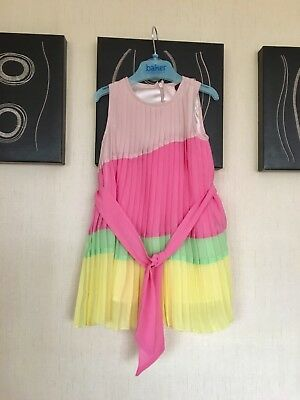Ted Baker Baby Girls Dress Age 12-18 Months Summer Pastels VGC Lovely On Pleated