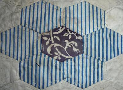c1840s BEAUTIFUL EARLY 19th CENTURY PRINTED COTTON PATCHWORK QUILT BLOCK, REF 56