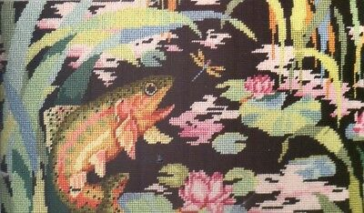 Tapestry chart. Golden trout footstool/cushion. By Barbara Baatz