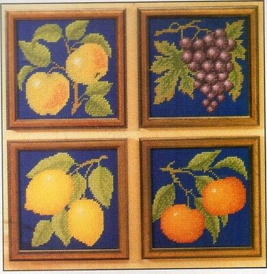 Tapestry chart. Fruit pictures by Sue Page
