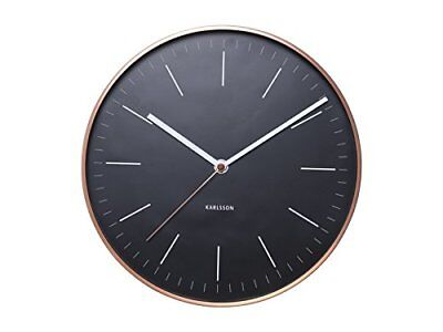 Minimal Wall Clock With Copper Surround By 27.5 Cm