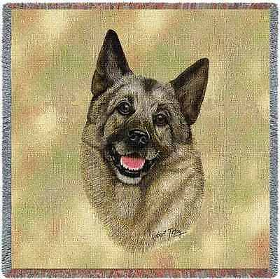 Lap Square Blanket - Norwegian Elkhound by Robert May 1944