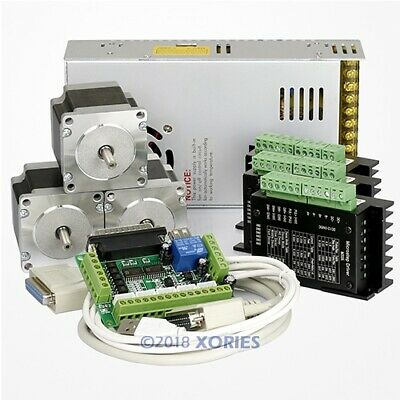 CNC Router Kit 3 Axis M335 Motor Driver 0.5A-3.5A + 1.26 Nm Nema23 Stepper Motor
